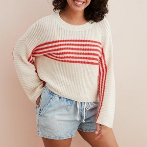 Aerie by AE Striped Pullover Sweater